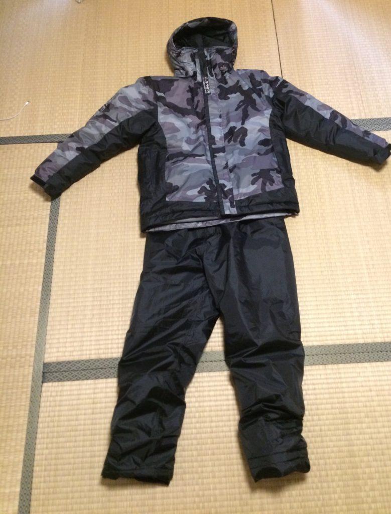 釣り用最強防寒着、ワークマンのイージスの全体像