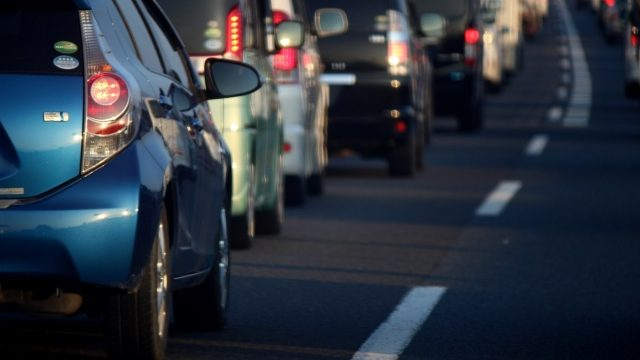 車の交通渋滞
