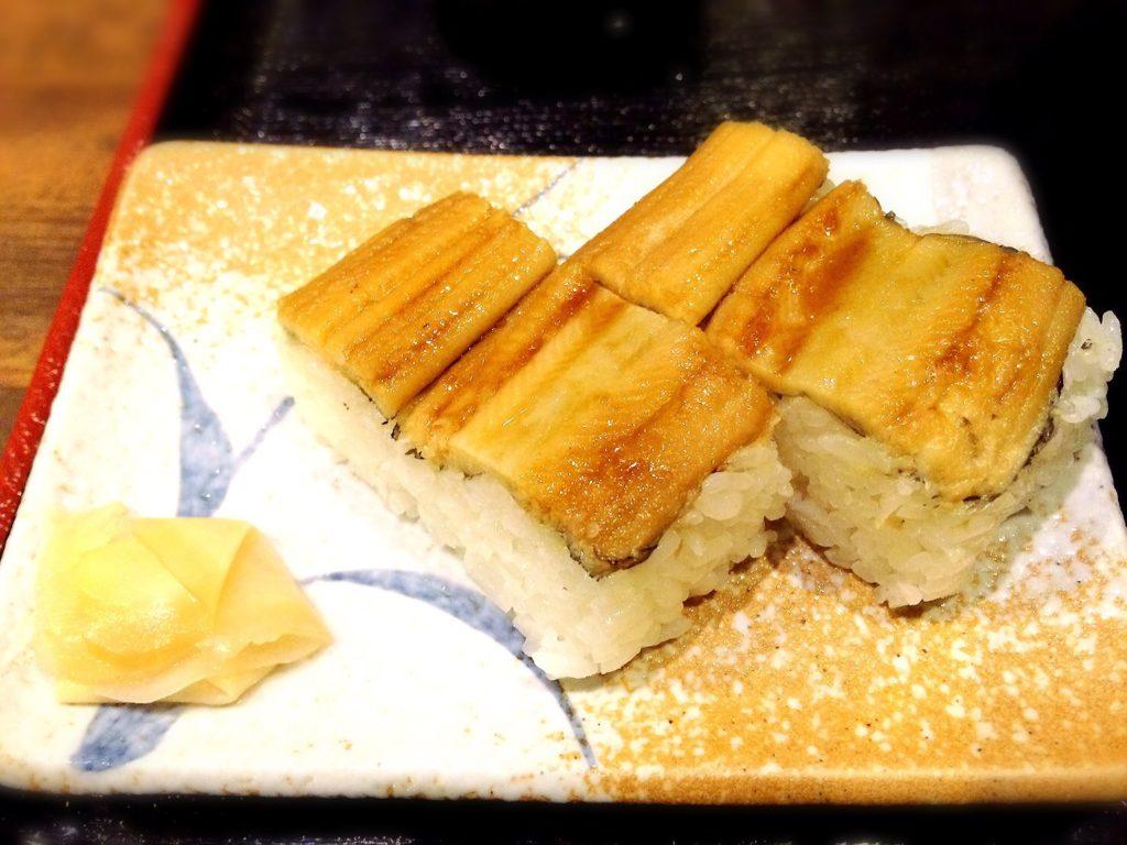 いぶし銀のあなご寿司