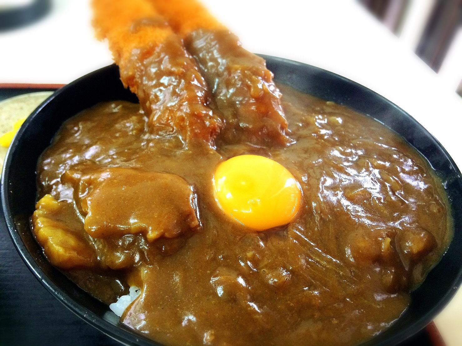 あづまやの海老カレー丼