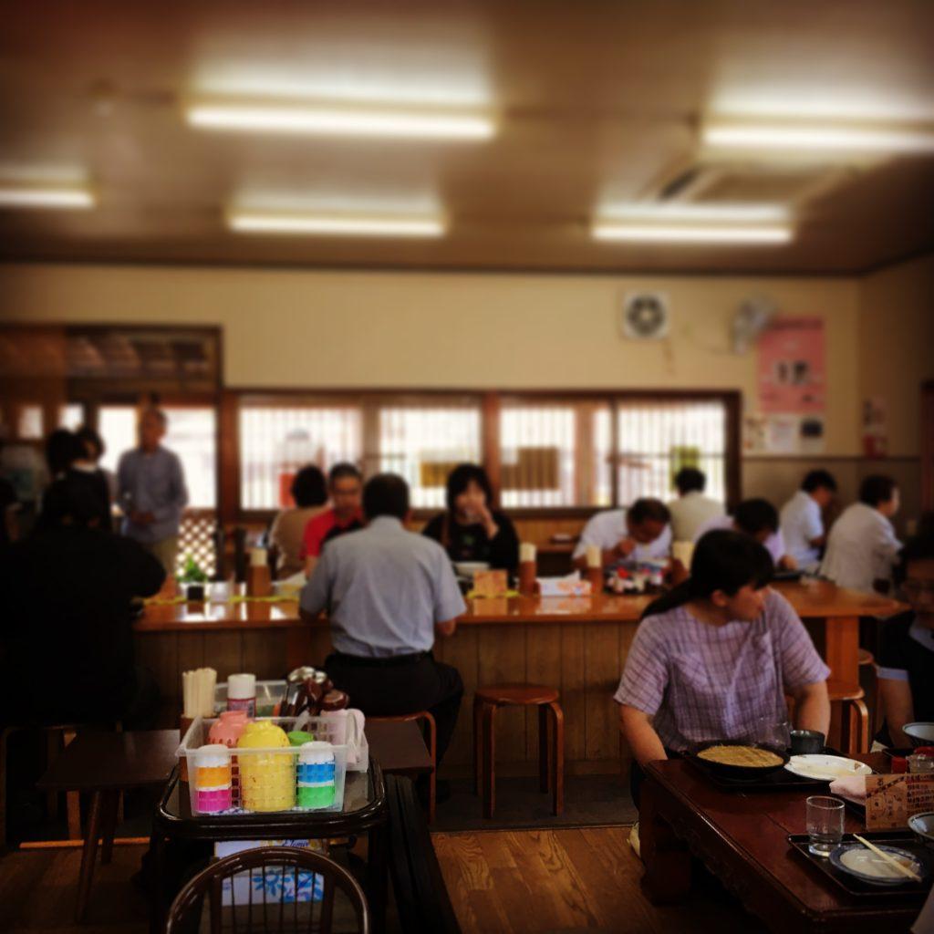 うどん一福(香川)の店内