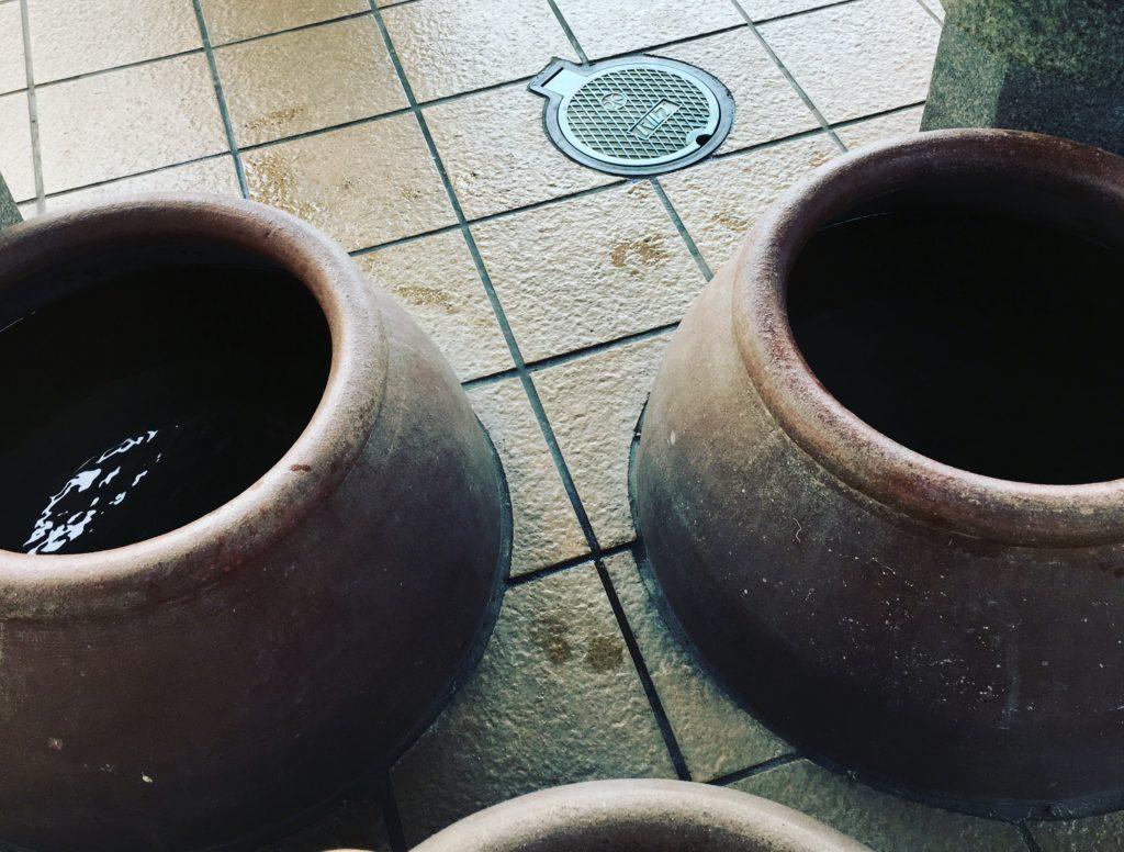 道の駅福良の足湯たこつぼ型