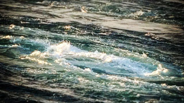 うずしお観潮船から見る鳴門海峡のうずしお