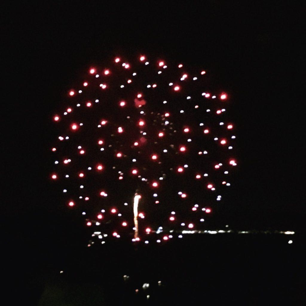 洲本城から見る洲本花火大会