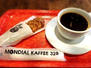 モンディアルカフェ328のモーニング(チーズドッグセット)