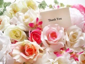 花とありがとう(感謝)