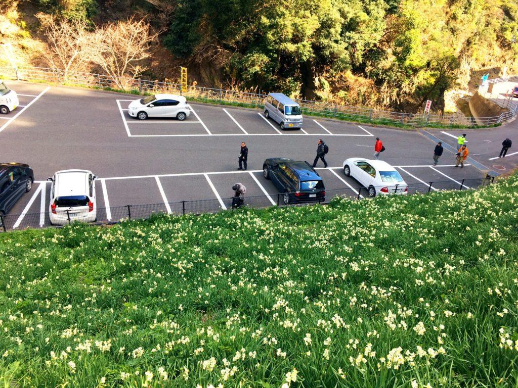 灘黒岩水仙郷の駐車場