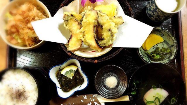 ちゃりこの地だこ天ぷら定食