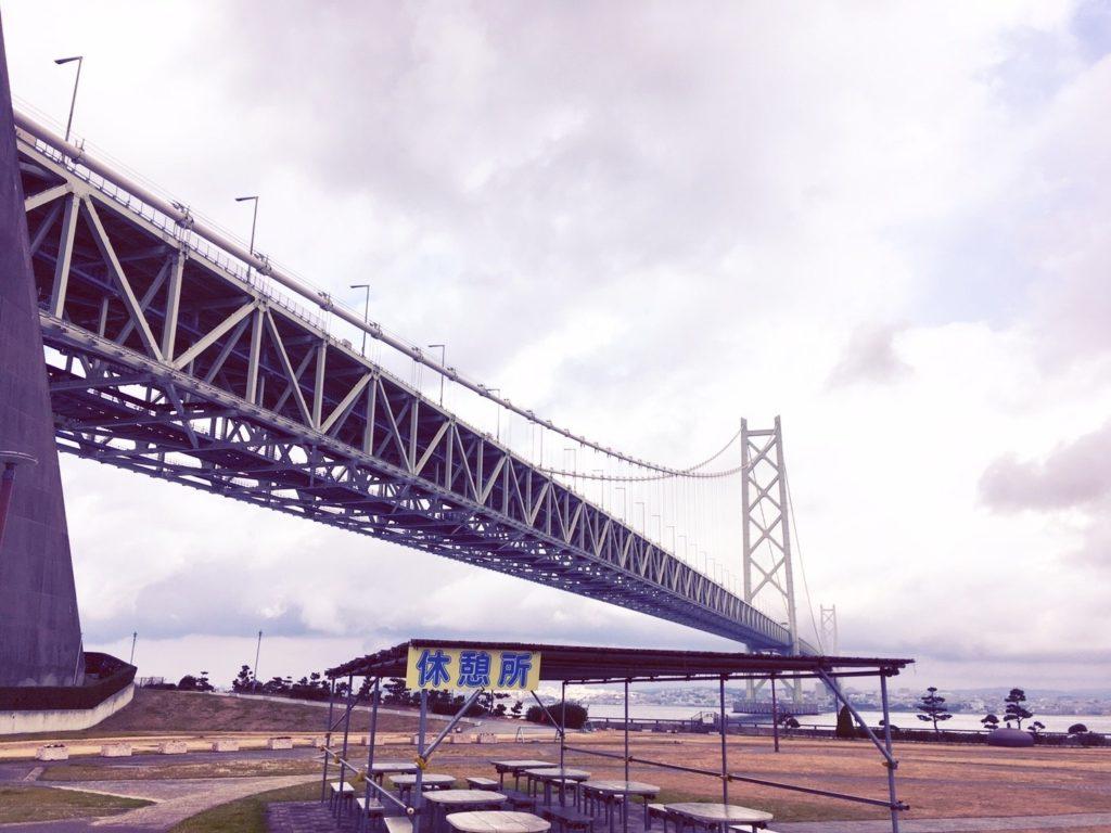 道の駅あわじから見る明石海峡大橋