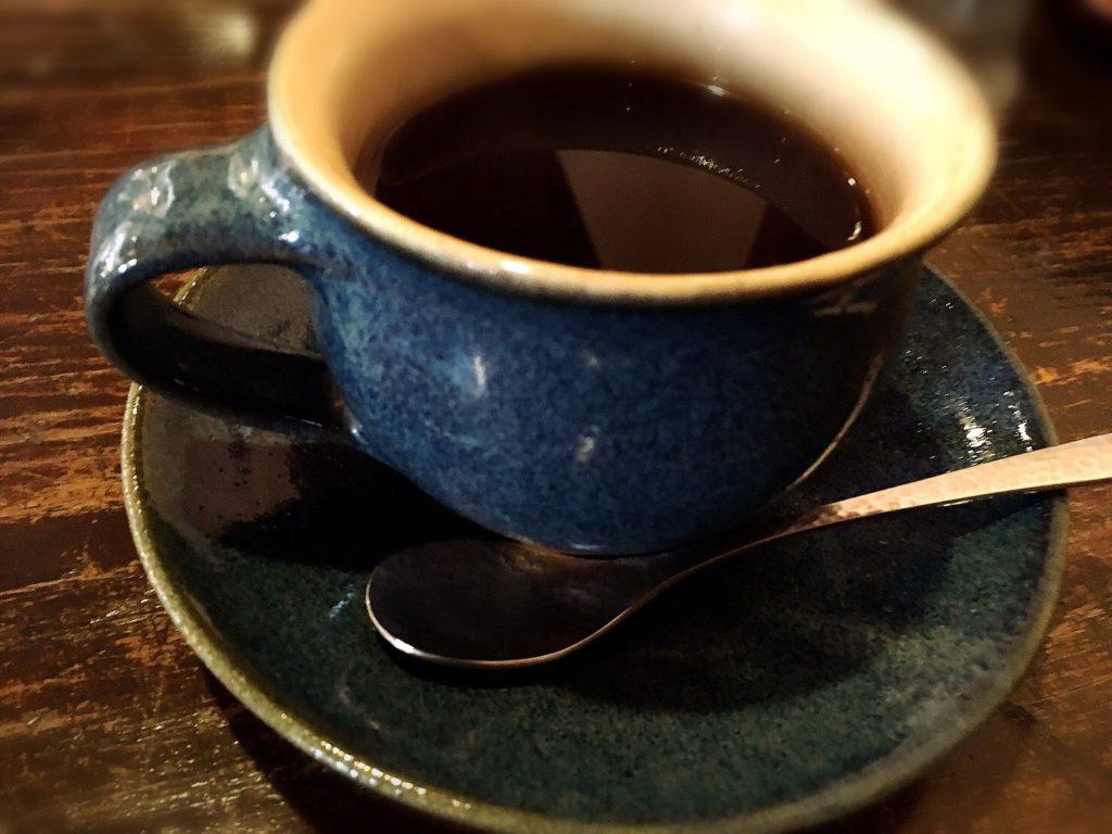 楽久登窯のコーヒー