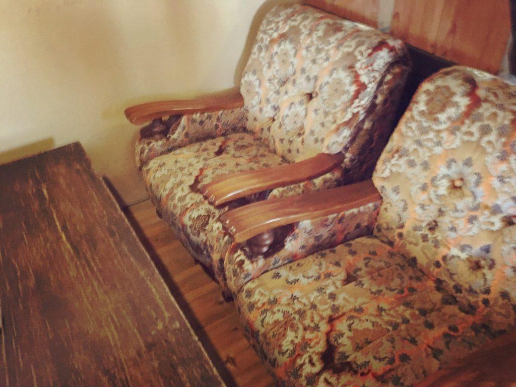 楽久登釜のソファ