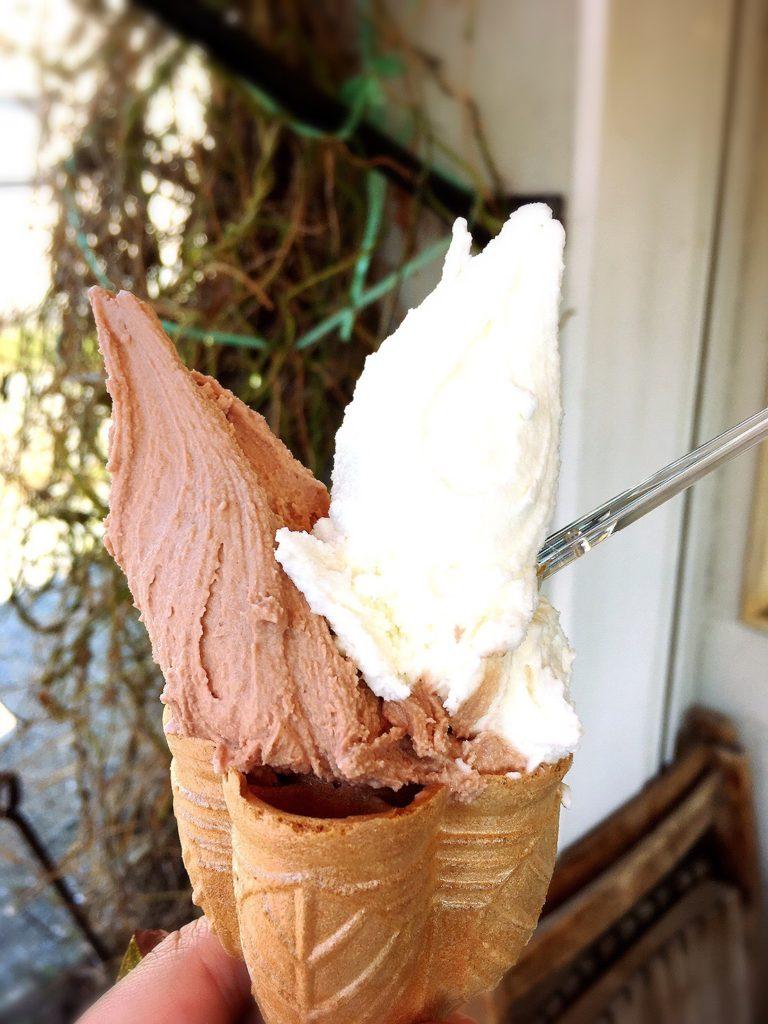 G・ELM(エルム)のチョコレートとチーズケーキジェラートアイス