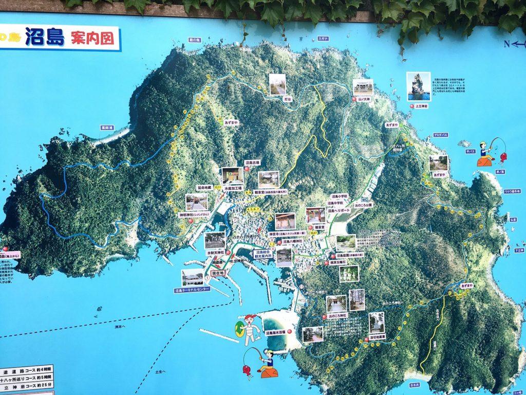 沼島の全体地図