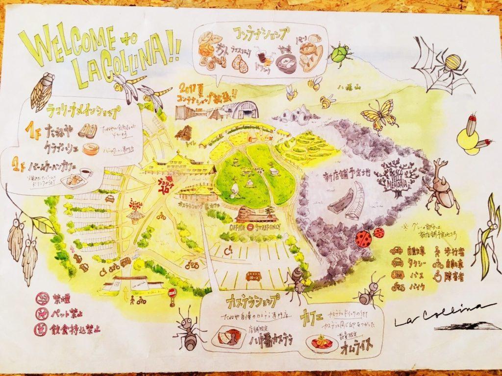 滋賀のラコリーナ地図
