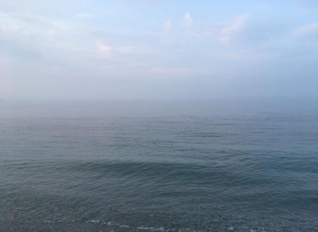 シオが釣れた霧がかったサーフ(2017.7)