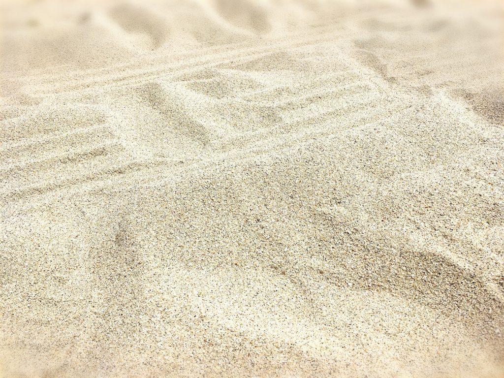 阿万海水浴場のビーチの砂