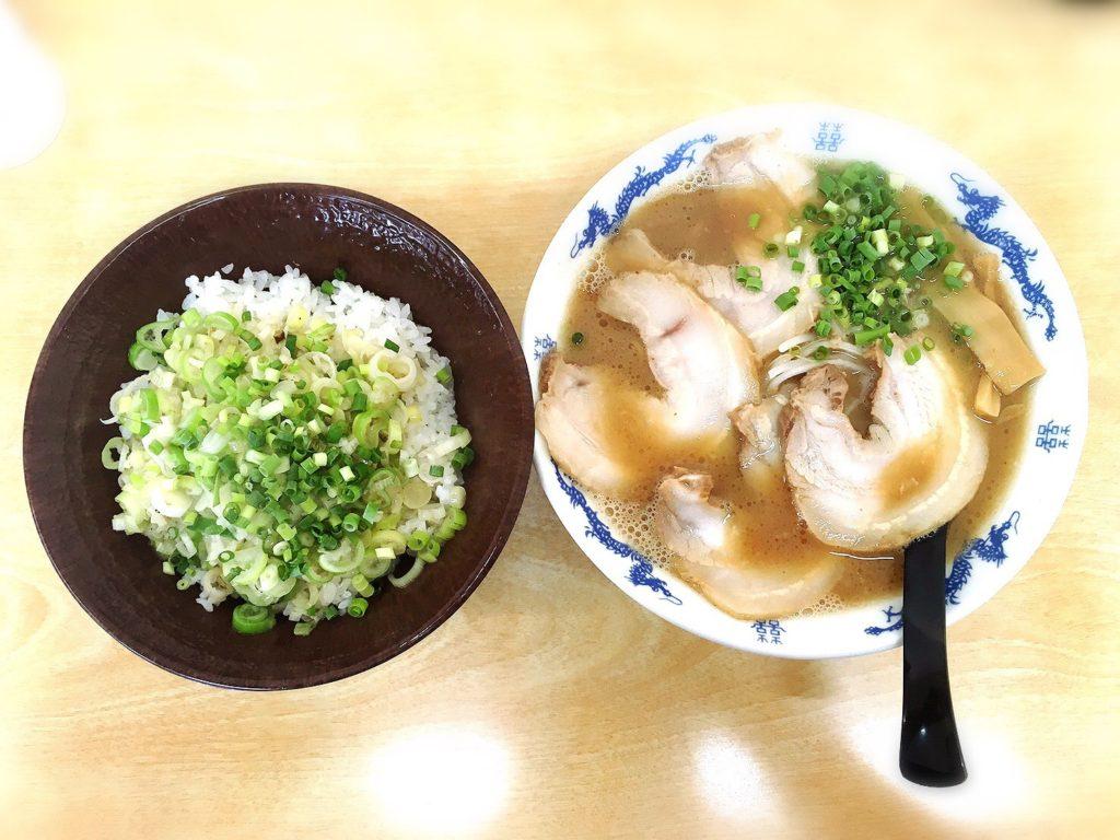 ひろっちゃんのチャーシュー麺とねぎめし