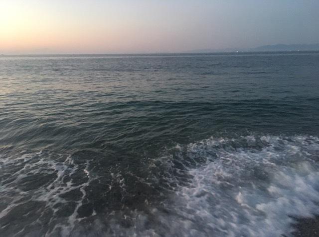大潮で満ちてくるサーフ(2017.10)