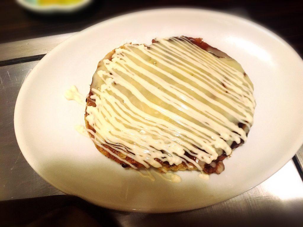 満面の選べるランチ関西風お好み焼きチーズ玉