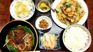 桃仙の八宝菜定食with台湾ラーメン