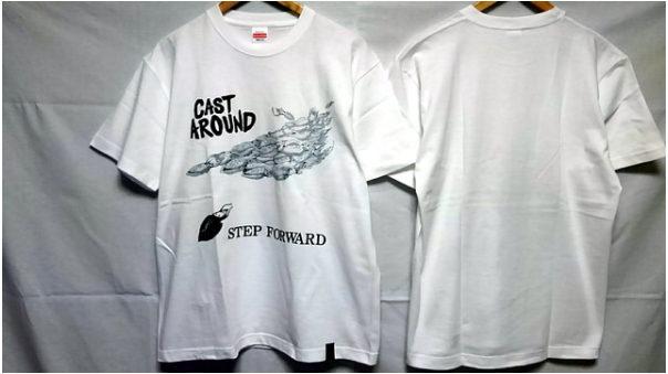 キャスタアラウンドのステップフォワードTシャツ
