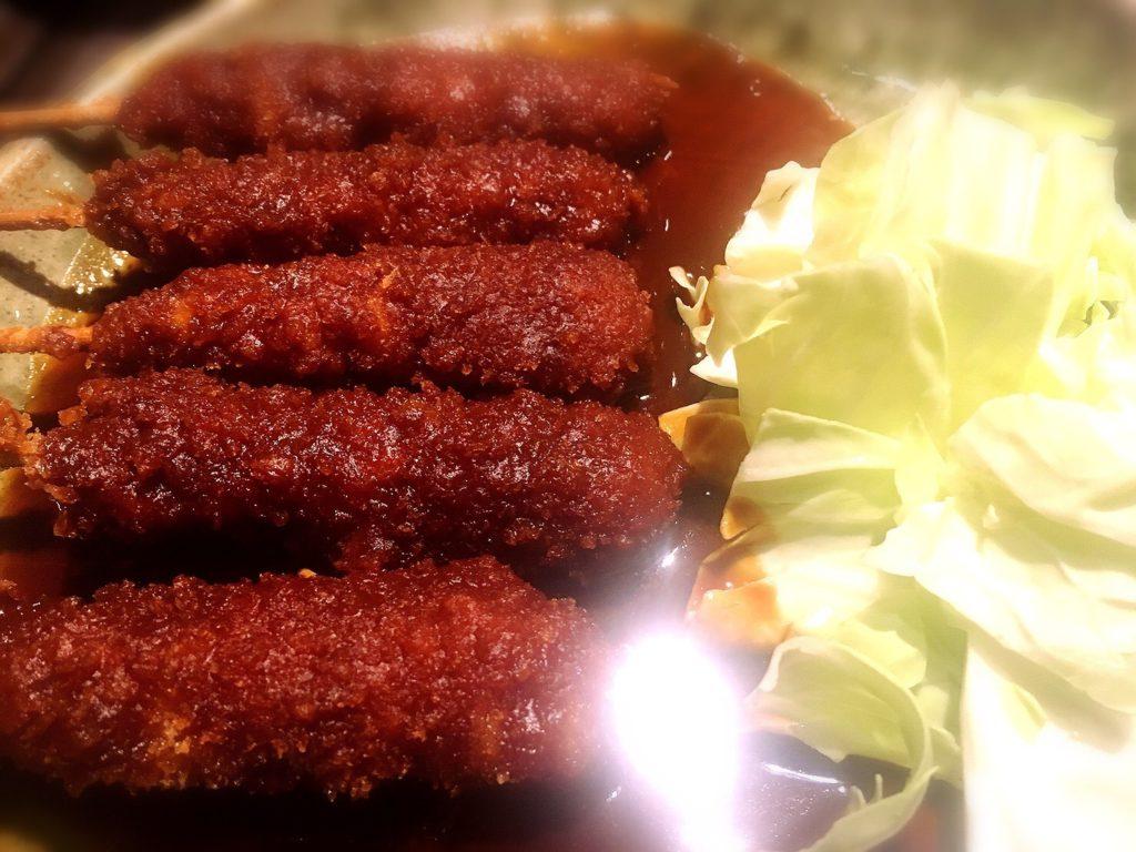 名古屋丸八食堂の矢場とん串カツ