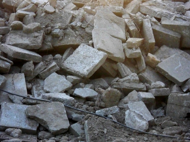 地震災害と瓦礫