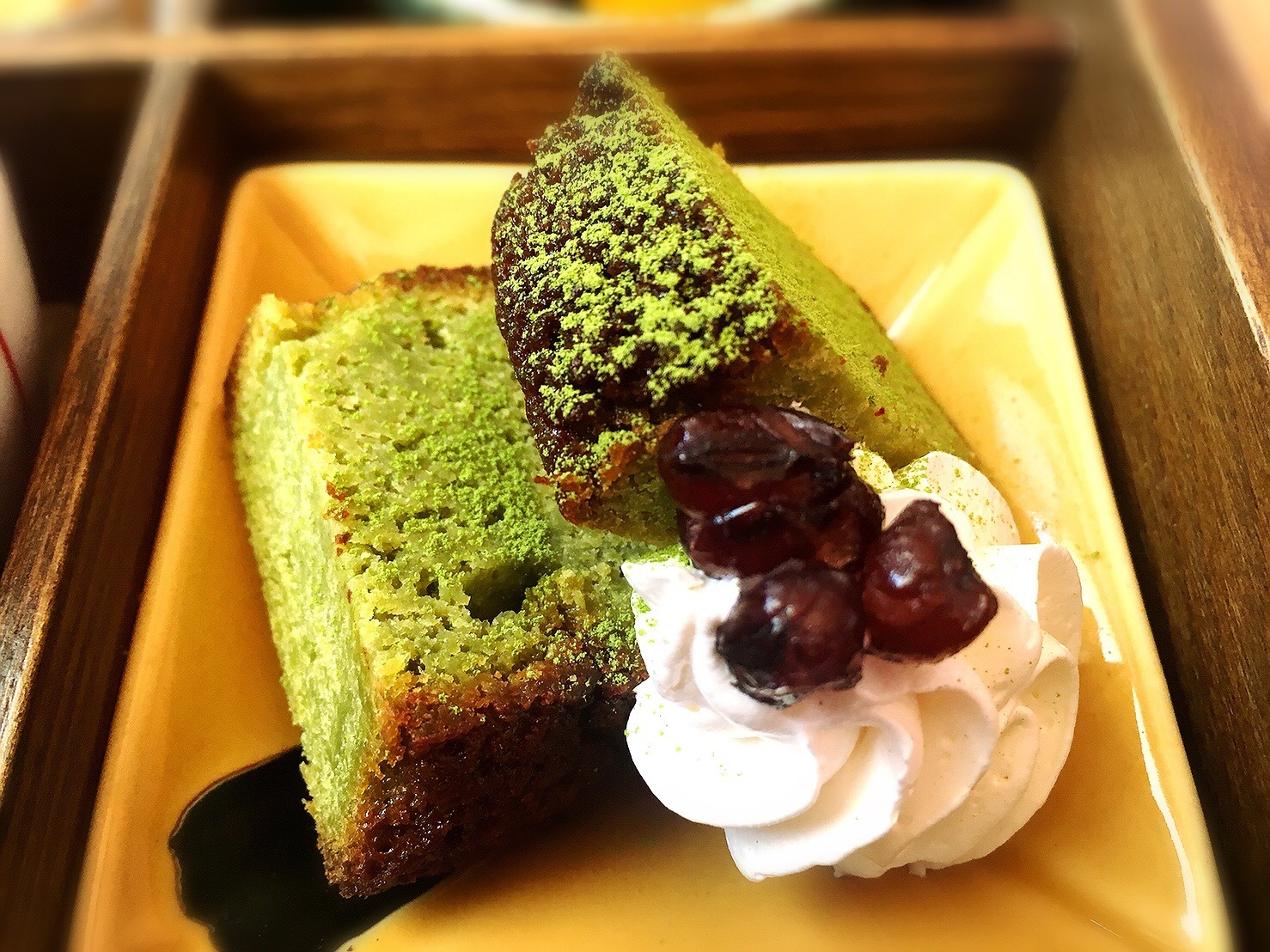 菓のんセットの抹茶ケーキ