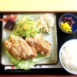 千博屋の唐揚げ定食