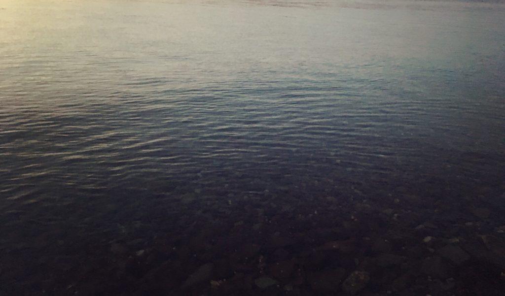 鏡面のような海面(水面)2018.3.2