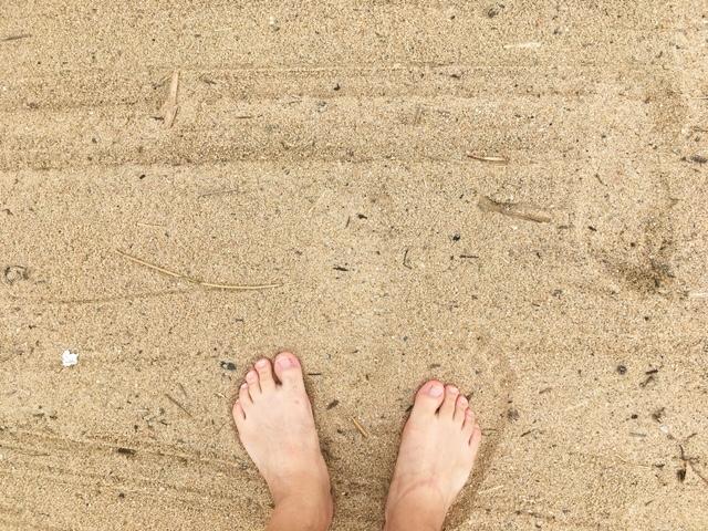 岩屋海水浴場の砂浜
