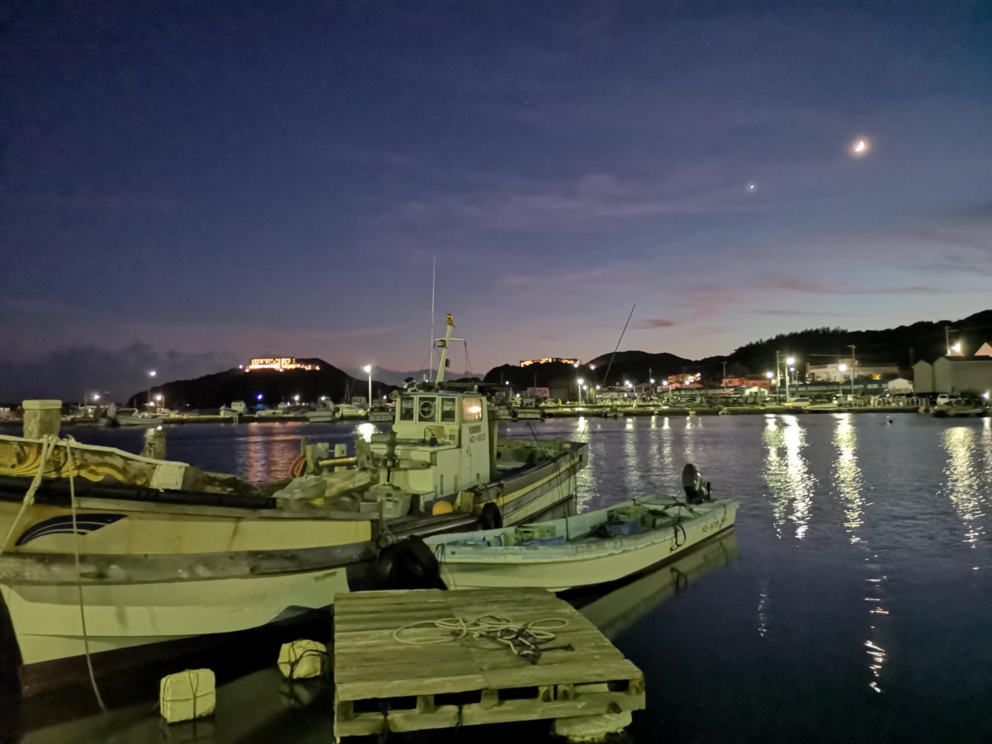 福良湾海上花火大会の福良港