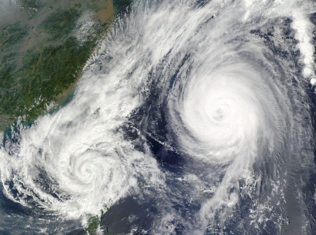 連続して複数発生した台風