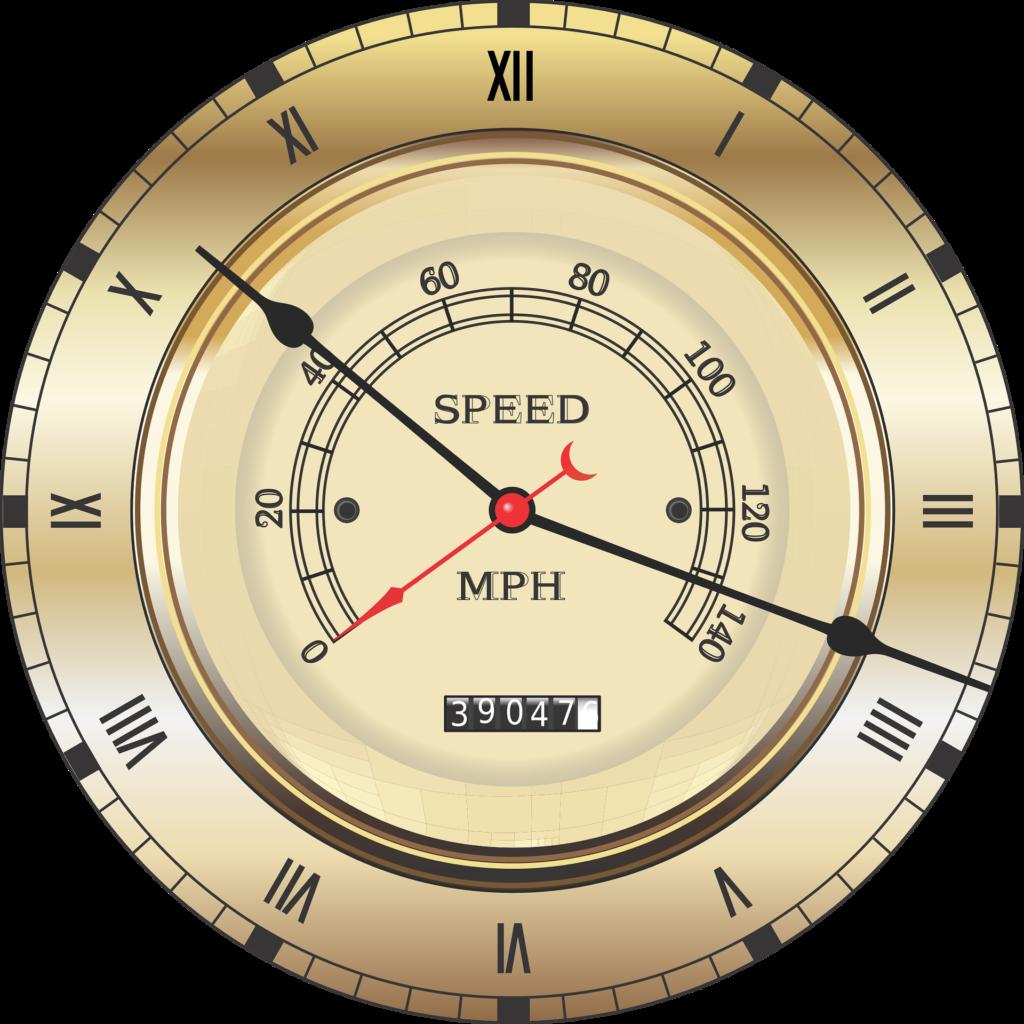 スピードメーター(速さを計測する速度計)