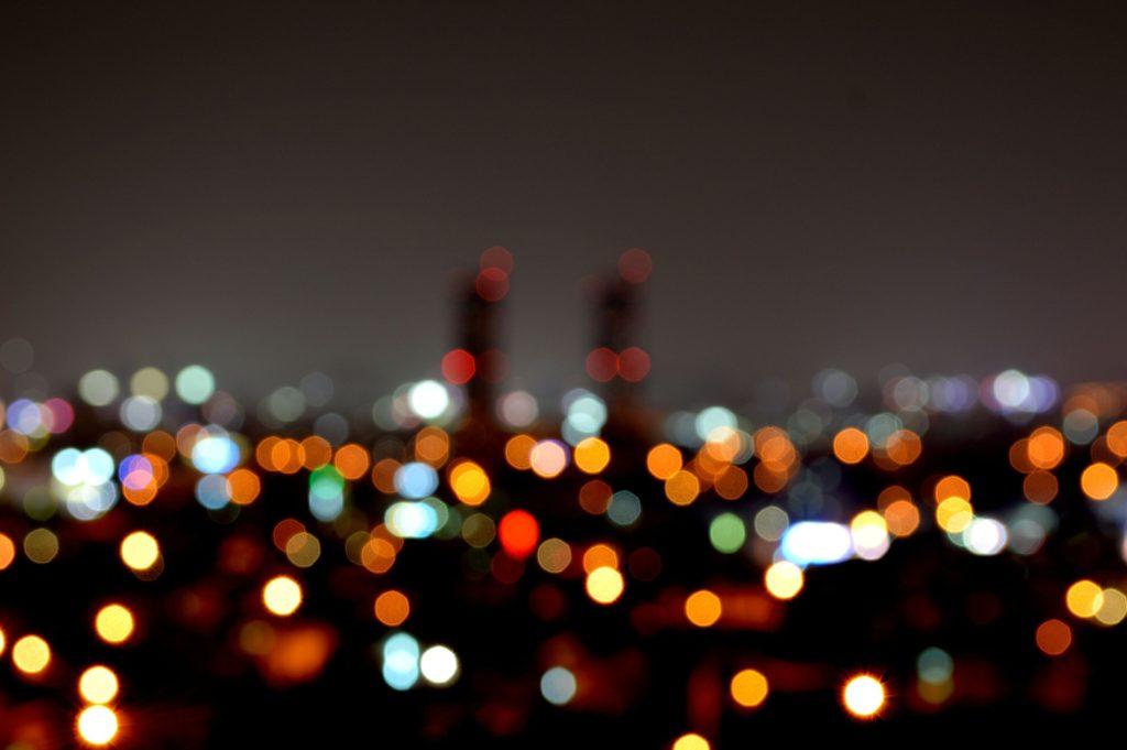 夜景と街明かり