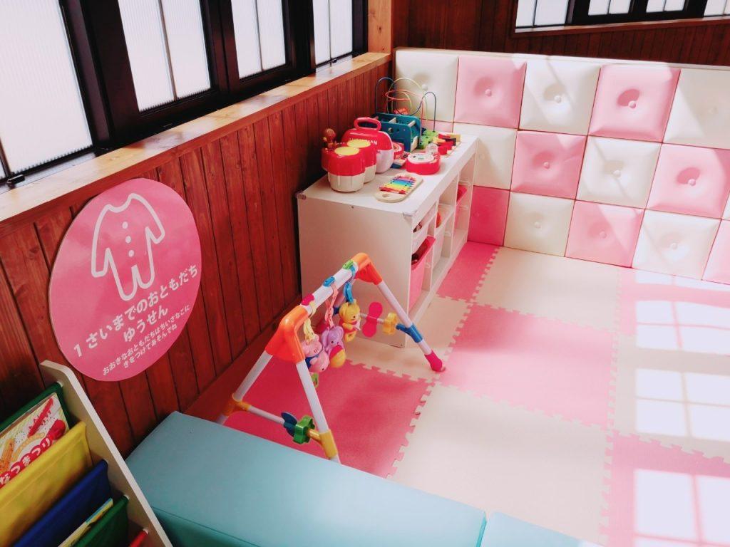 ワココの1歳児以下のプレイコーナー