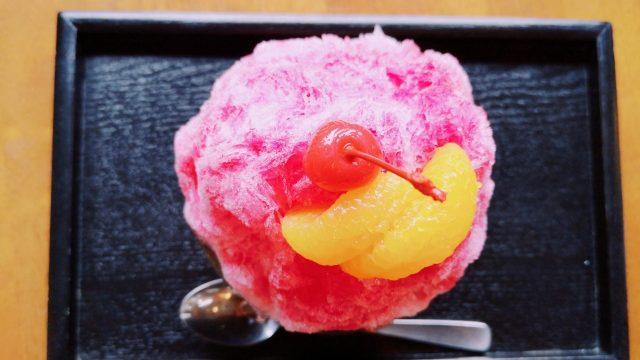 菓のんのキッズかき氷(いちご)500円