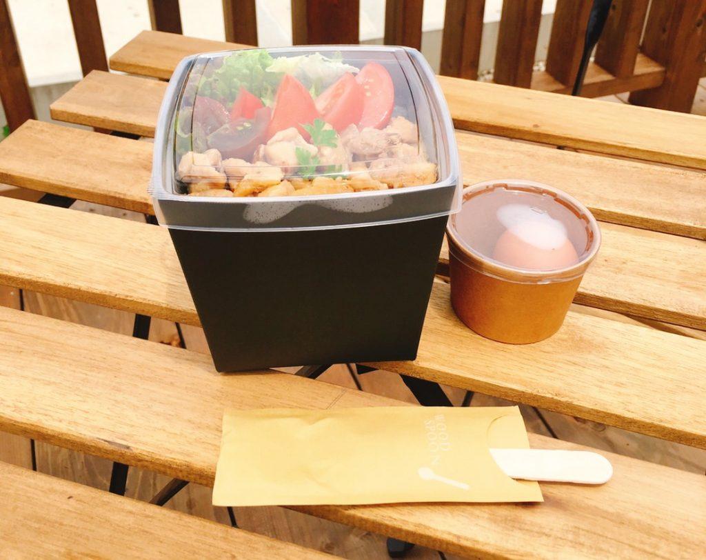 チャレンジモール福良capの農カフェ八十八屋のとまてり丼