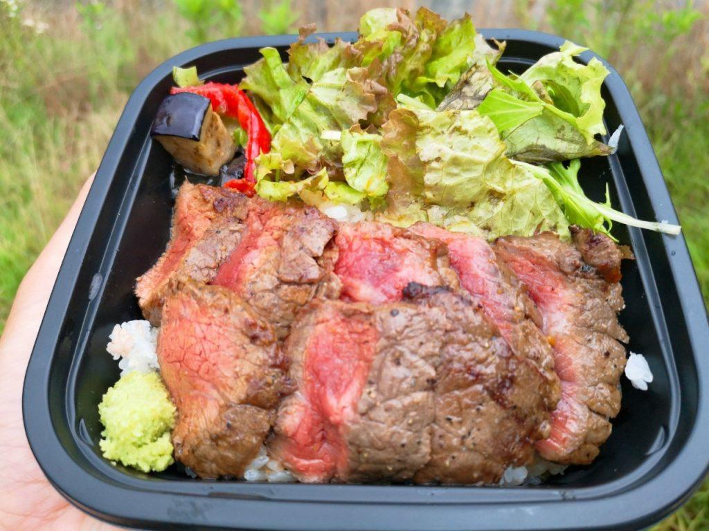 福良チャレンジモールCAPの志知カフェ海の倉庫の淡路牛ステーキ丼