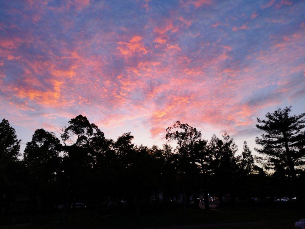 うずしおふれあい公園の夕焼け