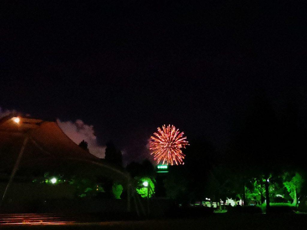 うずしおふれあい公園から見る 鳴門花火大会