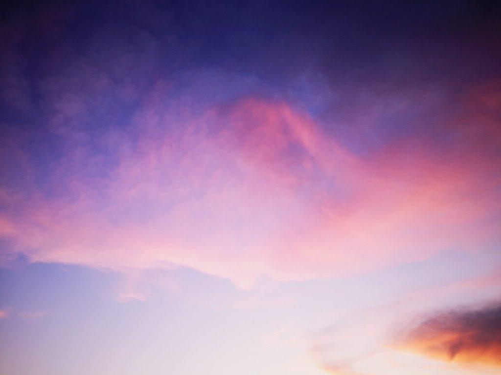 夕マヅメにメッキ9枚釣った日の空(2019.10)