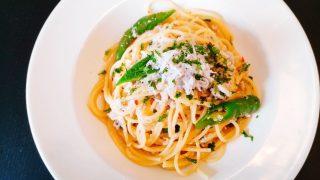 スパッジオのランチの淡路産シラスと甘長唐辛子のペペロンチーノ