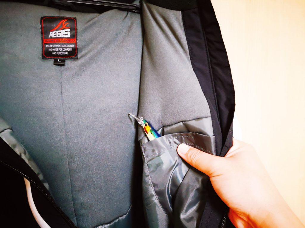 イージスオーシャン2019年モデルの内ポケット