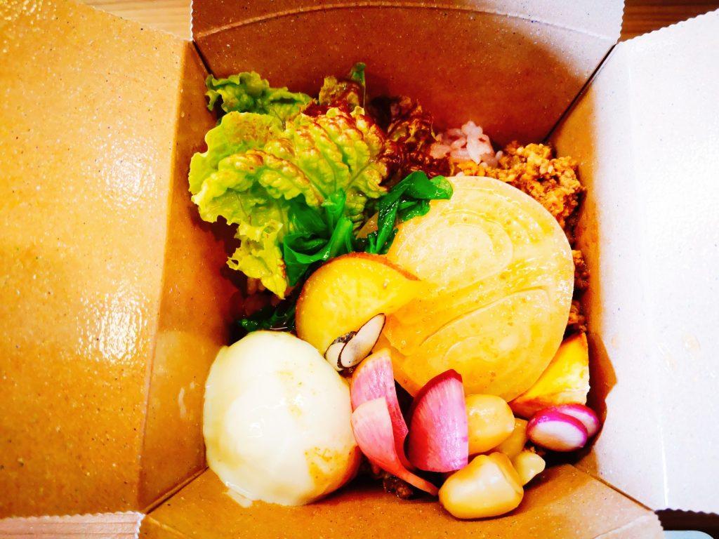 福良CAPの農カフェ八十八屋のベジ丼(800円)