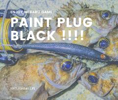 メバルプラッギングで黒しか釣れなかったときの写真paint plug black (2020.4)