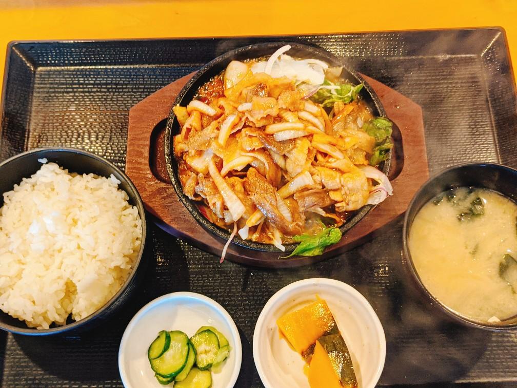 畔の生姜焼き